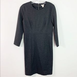 J. CREW | Gray Ponte Knit Back Zip Dress Sz. 4
